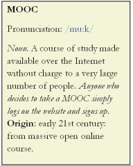 MOOC entry on Oxford dictionary.